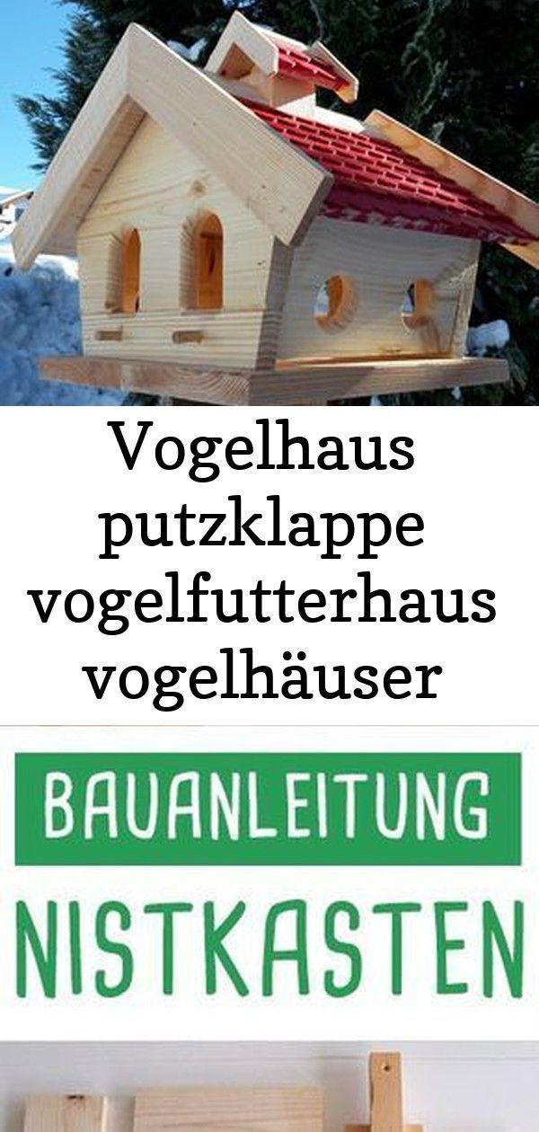 Garten Holz Massives Putzklappe Rot Terra Vogelfutterhaus Vogelhaus Vogelhauschen Vogelhauser Vogelhaus Putzklappe Vogelfutt Bird House Decor Outdoor