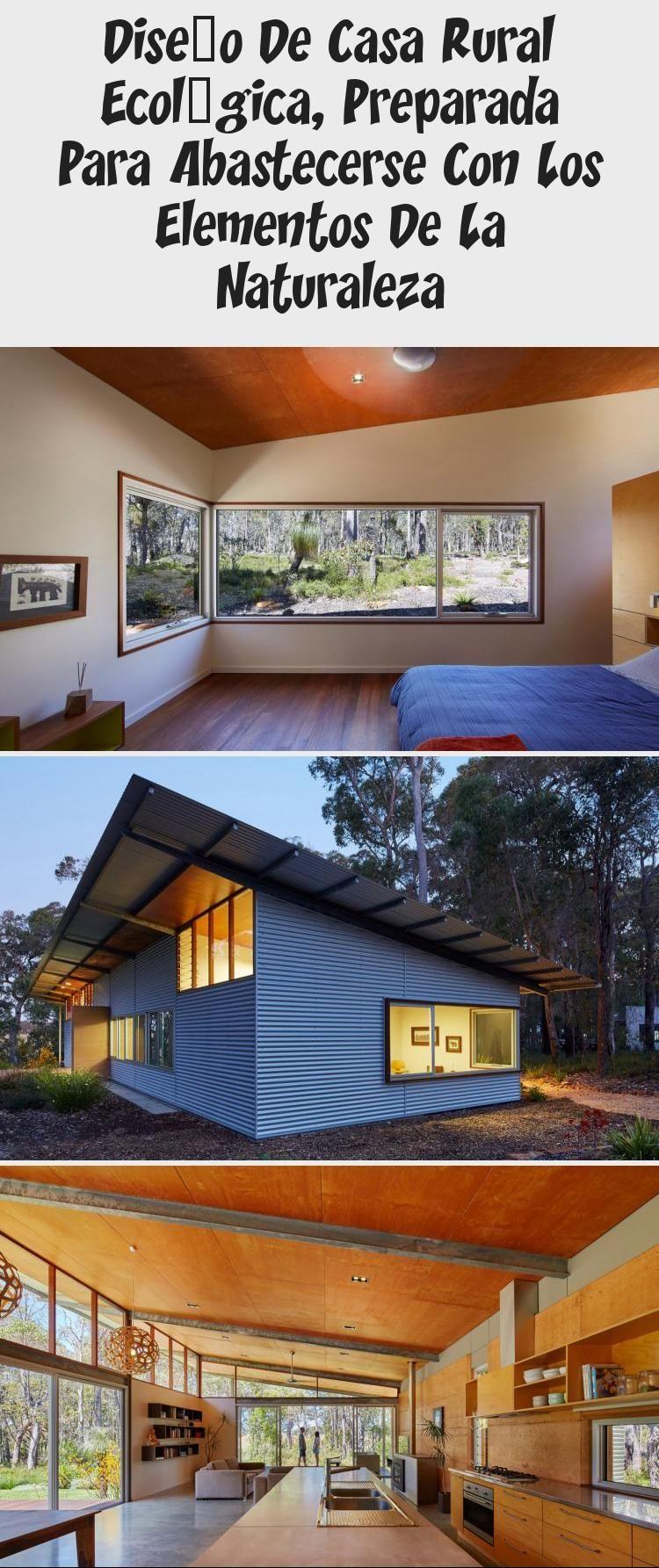 Diseño De Casa Rural Ecológica Preparada Para Abastecerse Con Los Elementos De La Naturaleza Const Sustainable Architecture House Styles Modern Architecture