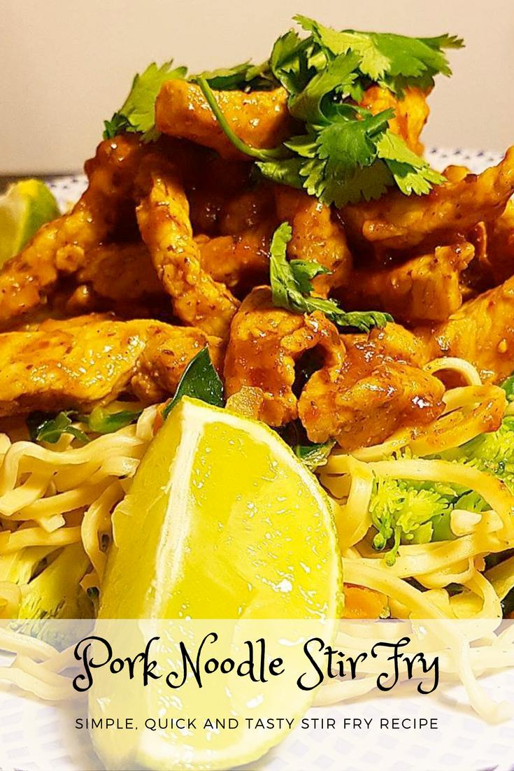 Pork Noodle Stir Fry Recipe - Simple, Quick and tasty stir fry recipe