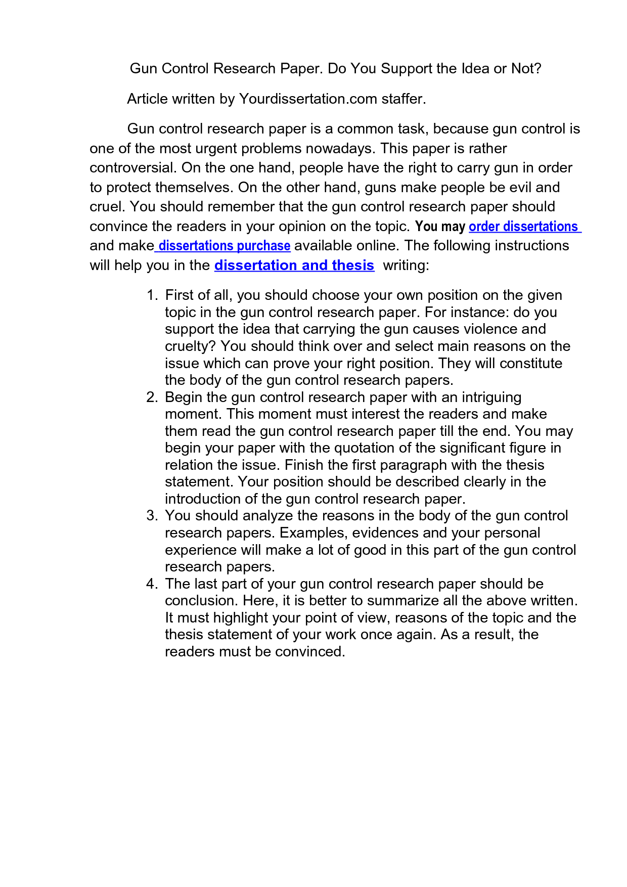 Persuasive essay on gun control free persuasive papers essays and
