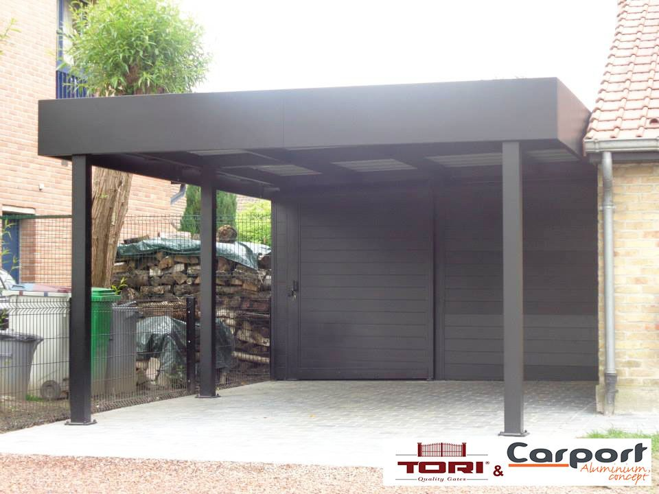 carport aluminium carport pinterest garage abri. Black Bedroom Furniture Sets. Home Design Ideas
