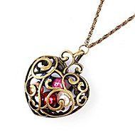 Koreansk smykker hul mønster kærlighed halskæde N... – DKK kr. 12