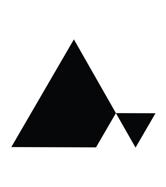 Black And White Geometric Triangle Minimalist Shapes Black And