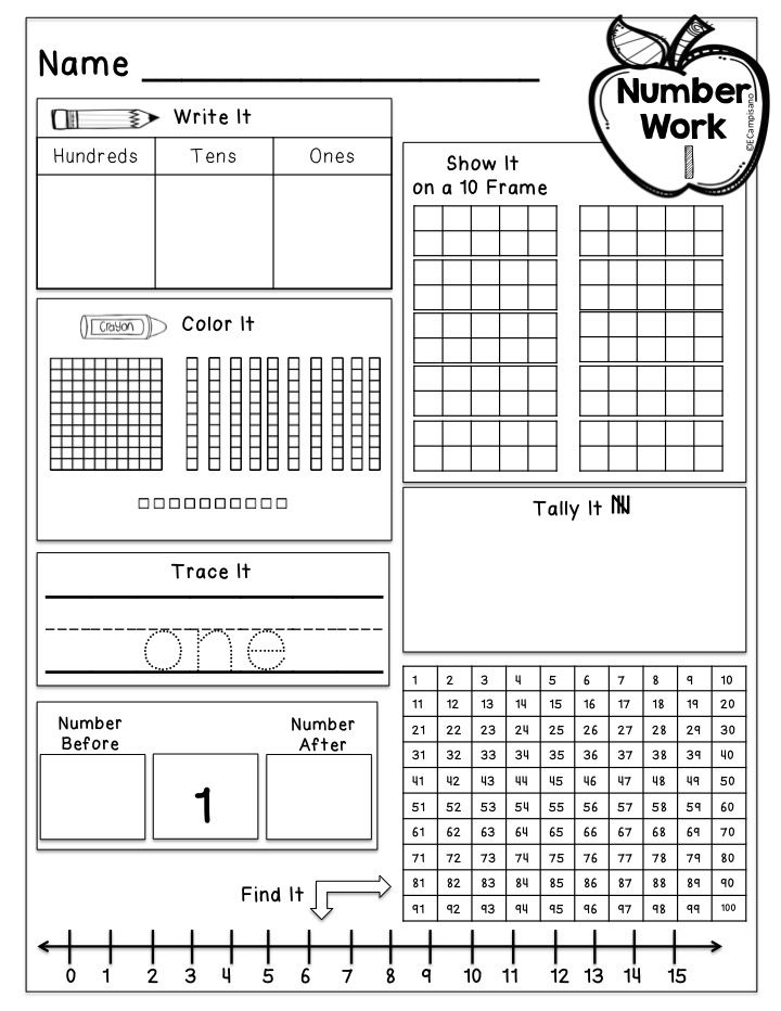 Freebie Kindergarten Number Sense Practice Daily Morning Work Number Of The Day Works Well With Everyday Mat Calendar Math Everyday Math Daily Math