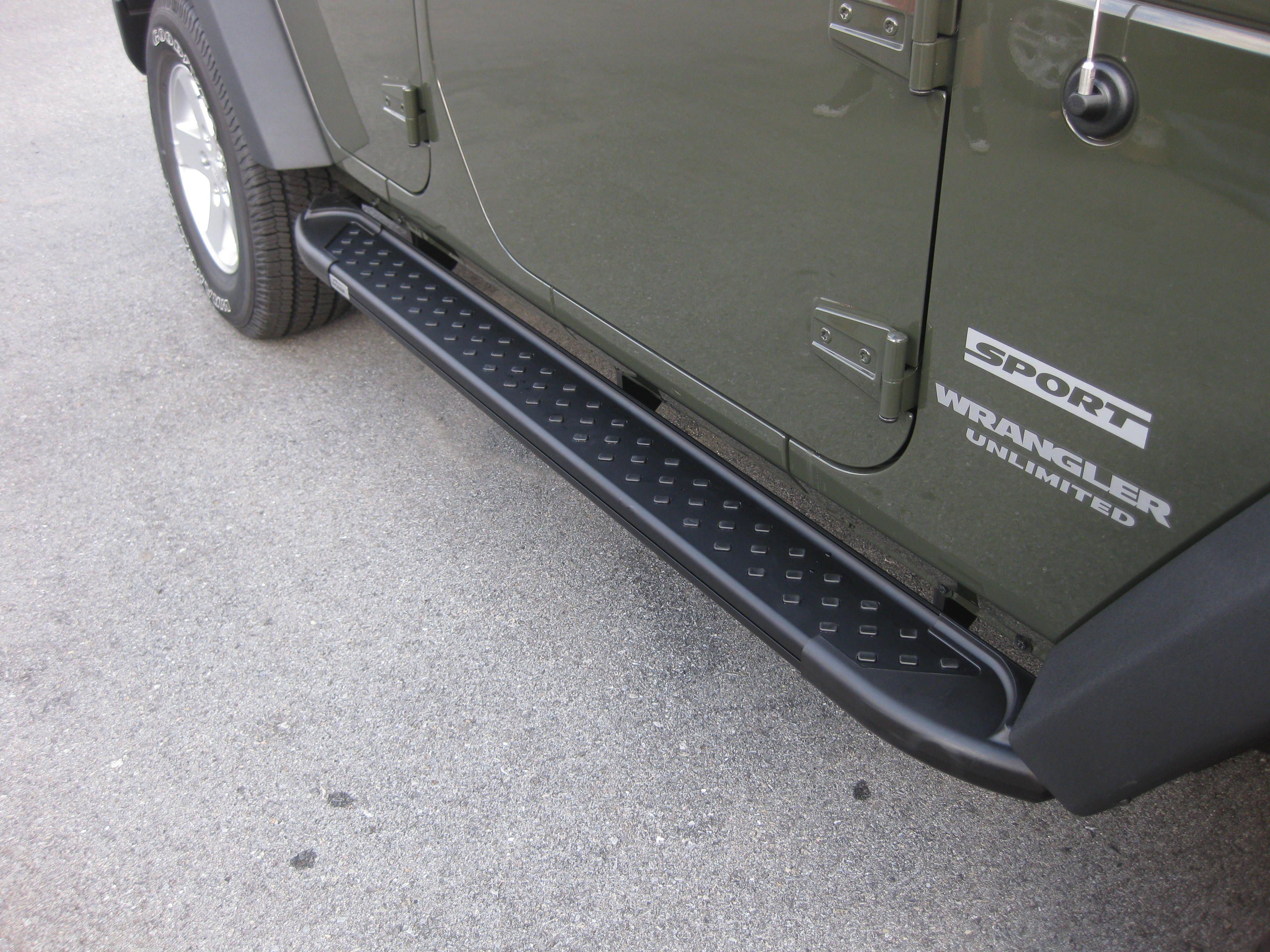 Side Steps Jeep Wrangler 07 16 Arp Artemis Gray Black