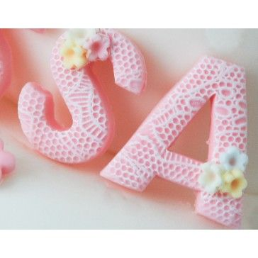 Lace Effect Cake Topper Letters