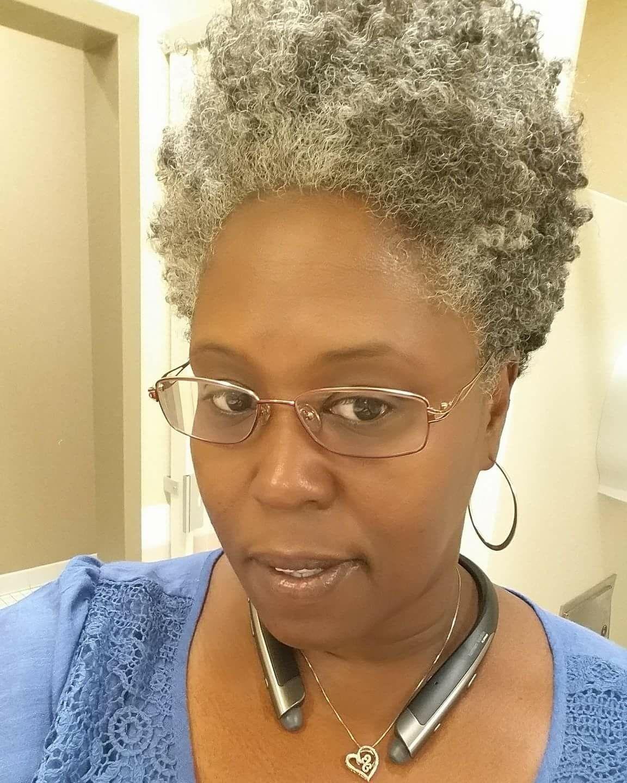 Tapered Natural Grey Hair Natural Gray Hair Natural Hair Styles