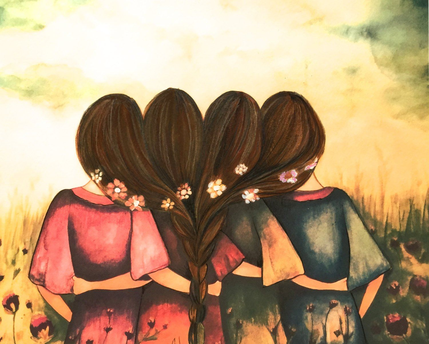Pin By Muqaddas Ch On Sapaan Girly M Best Friend Drawings Drawings Of Friends