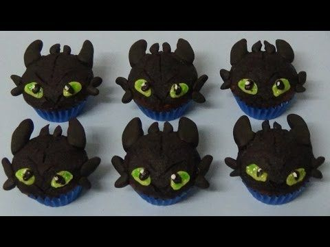 how to make double chocolate mini muffins and decorate as toothless dragon youtube drachen. Black Bedroom Furniture Sets. Home Design Ideas