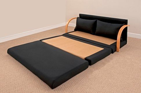 Fold out double foam sofa bed chloe black furniture for Sectional sofa with fold out bed