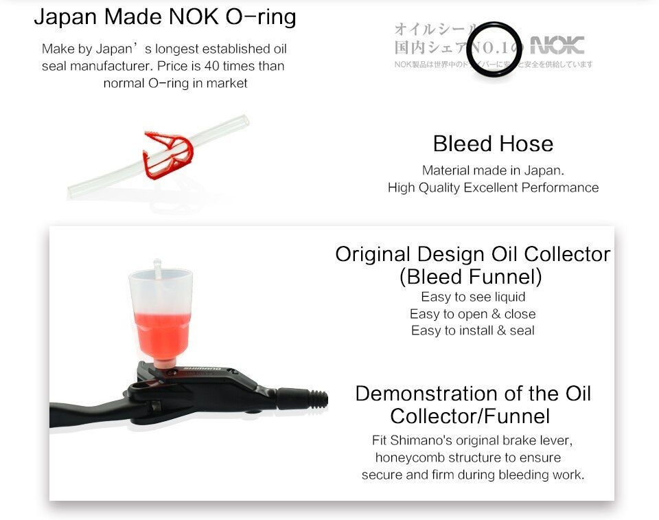 Cooma S Hydraulic Brake Bleed Kit For Shimano And Tektro Brake