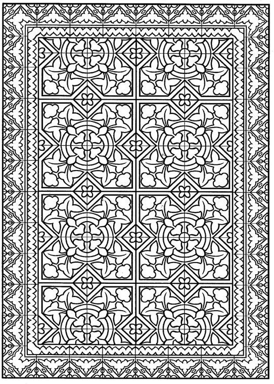 Http Www Kids N Fun Com Coloringpage Tiles Abstract Coloring