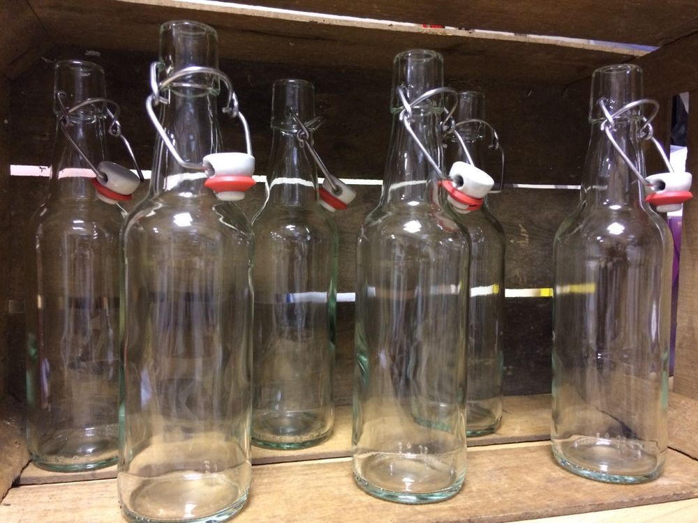 Clear swing top bottles 500ml x 6homebrew wine making