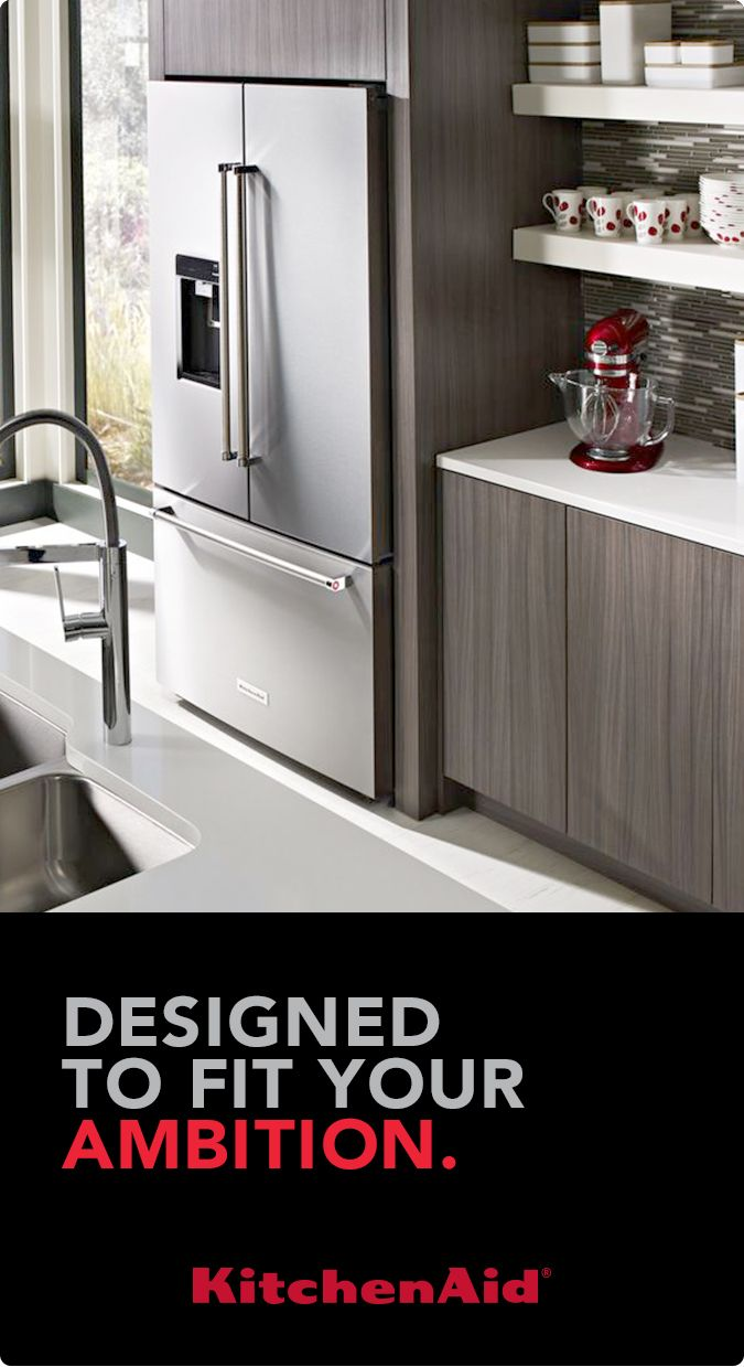Learn more at KitchenAid.com about the Counter-Depth French Door ...