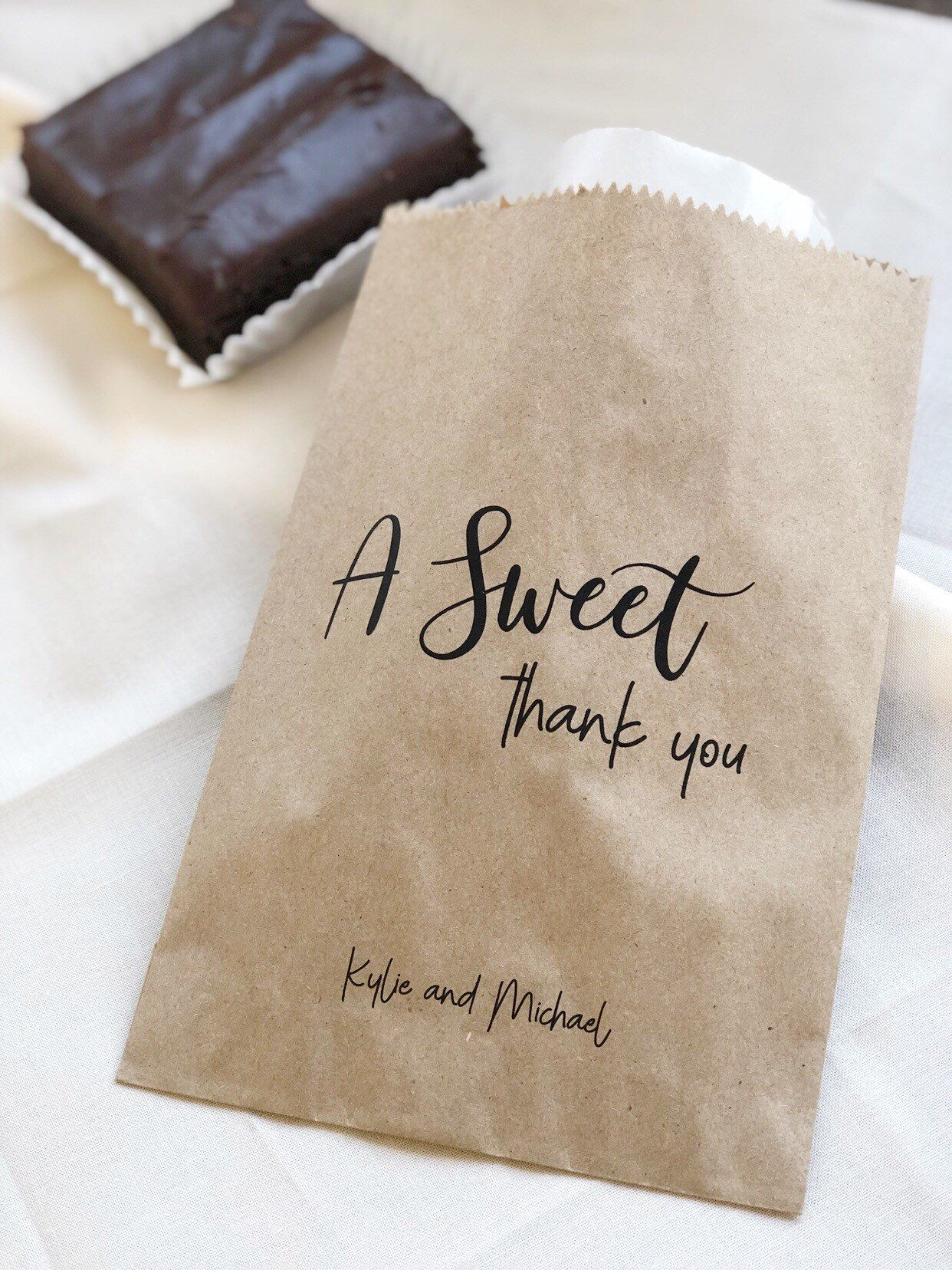 Bridal Shower Favors Wedding Favor Bags A Sweet Thank You