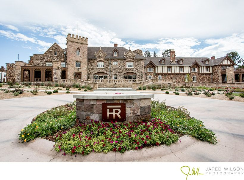 the front of the highlands ranch mansion wedding and event venue