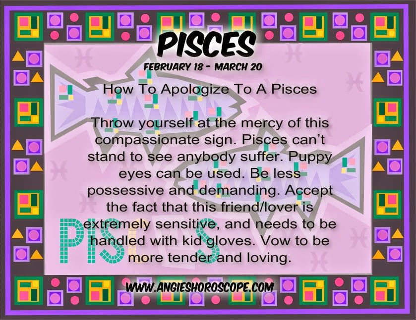 Pisces How A To Woman Apologize To