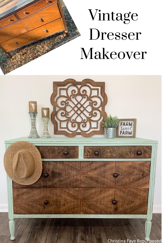 Free Vintage Dresser Makeover Vintage Dressers Furniture Makeover Vintage