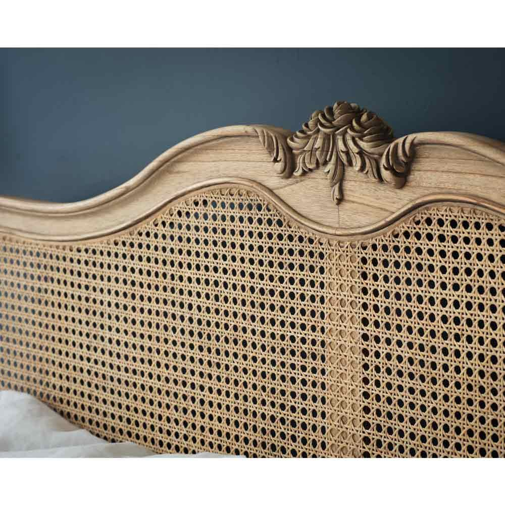 Montgomery Rattan Bed Rattan bed, French bed, Carved
