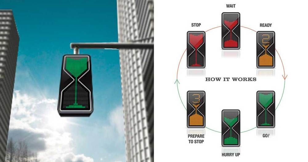 Hourglass Traffic Lights Cool Inventions Inventions Traffic Light
