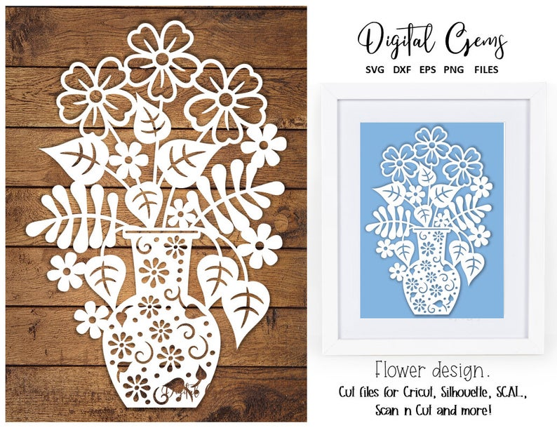 Download Floral Mum Frame, Papercut Svg File, Hand Paper Cutting Template, Dxf Crafter Files