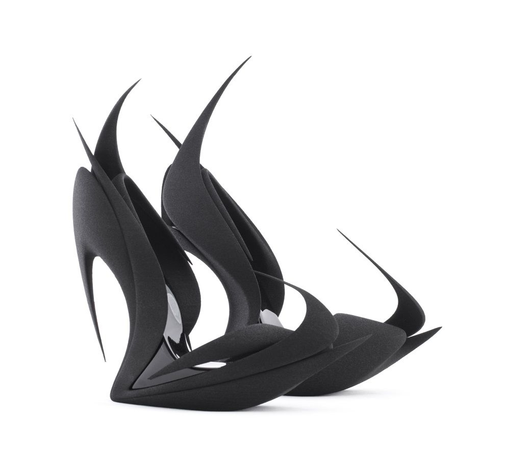 Flames. Zaha Hadid in cooperation with United Nude, part of the Re-Inventing Shoes collection, 2015.