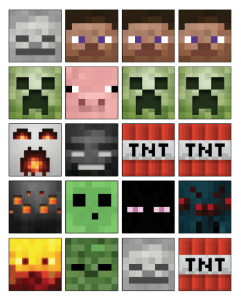 Free Printable Minecraft Cupcake Toppers High Resolution Tnt Minecraft Cakes Minecraft Cupcakes Minecraft Cupcake Toppers Minecraft Party Printables