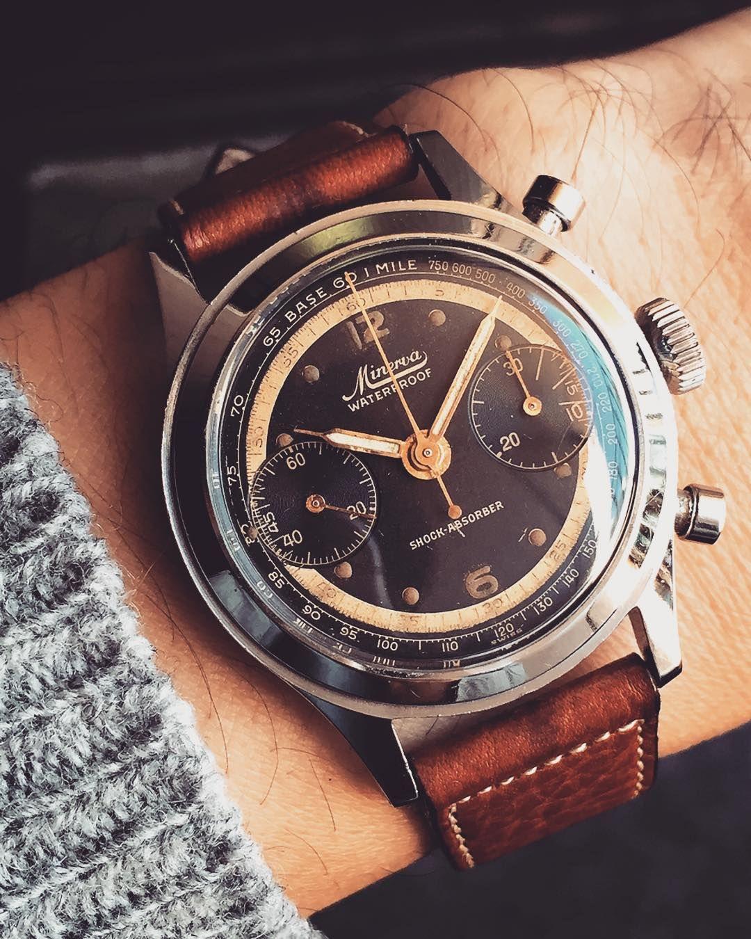#vintagewatch  #vintageminerva  #vintagestyle  #vintagechronograph