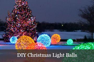 Como fazer bolas de luz de Natal