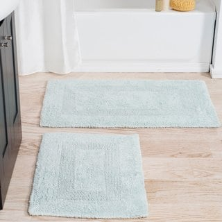 Windsor Home 100 Percent Cotton 2 Piece Reversible Rug Set Seafoam Green Windsor Homes Taupe Rug Bath Rugs
