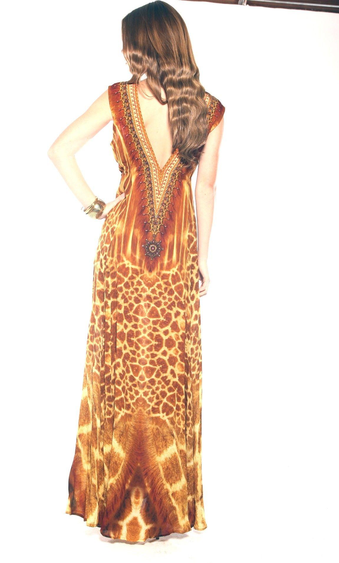 f2d4cdba19 Shahida Parides DEEP V Jungle Print Fit and Flare hi low - Last Call Clearance  Sale - Shop Style