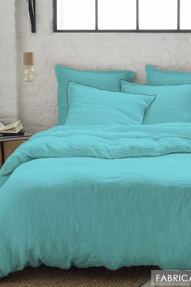 Chambre Bleu Ciel Et Lin Épinglé sur tendance lin lavé - linge de lit