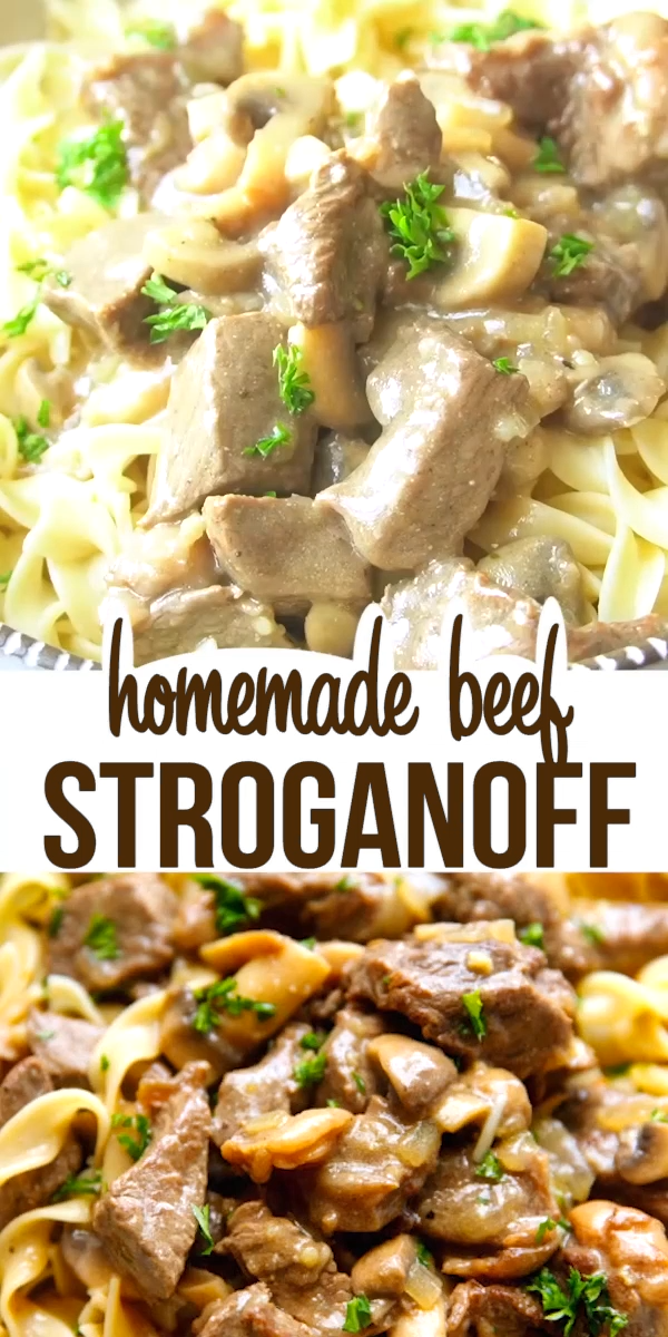 Easy Beef Stroganoff Recipe – hearty and delicious, very easy to make dish, perfect for dinner any time of the year!