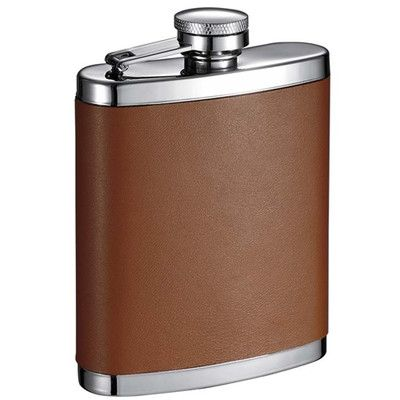 Visol Products Robert Leather Hip Flask
