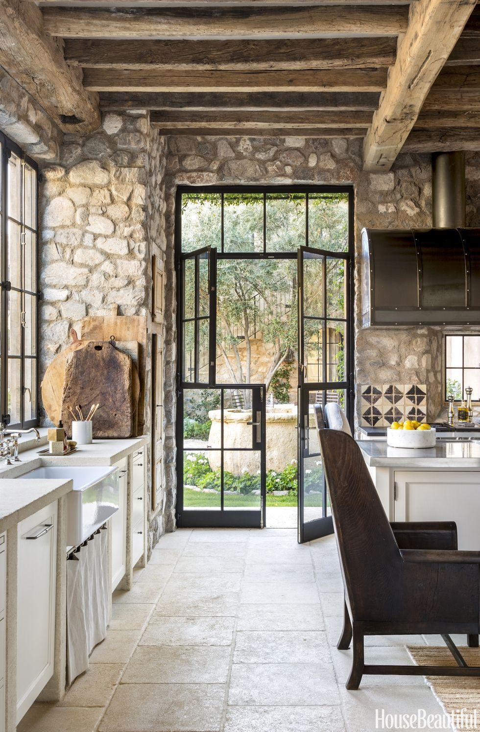 Beautiful Exterior Home Design Trends: This Rustic Arizona Kitchen Feels Like A French