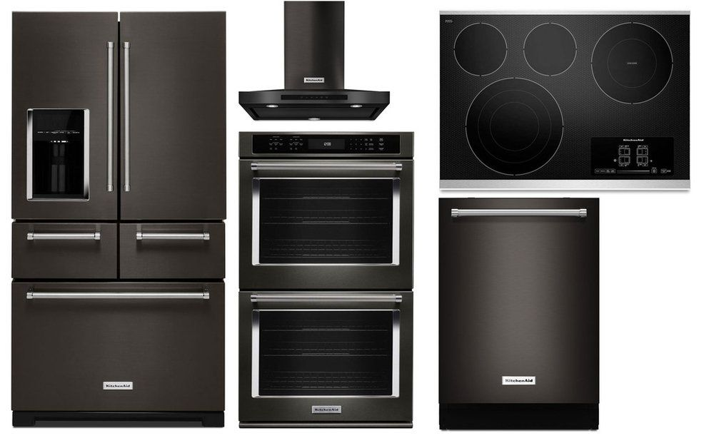Bon Package KB4   KitchenAid Appliance   5 Piece Built In Appliance Package  With Gas Cooktop   Black Stainless Steel