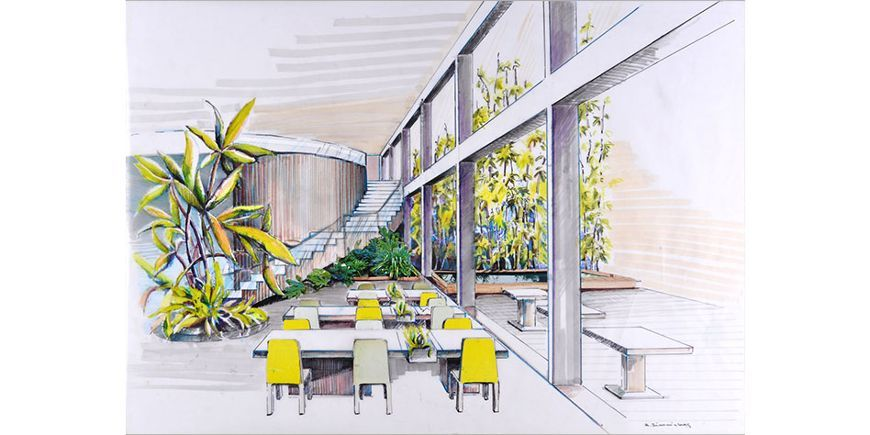 Freehand Perspective Drawing Interior Design Module Two Short Course Portfolio By Alicja