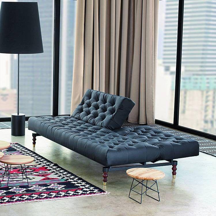 schlafsofa oldschool kunstleder schwarz sofa bed schlafsofa pinterest schlafsofa. Black Bedroom Furniture Sets. Home Design Ideas