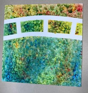 Photo of Toddlers Finger Paint Water Lilies with Claude Monet