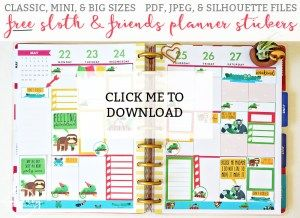 Available In Mini Classic And Big Sizes PDF JPEG Silhouette Files Included Free Happy Planner Printables