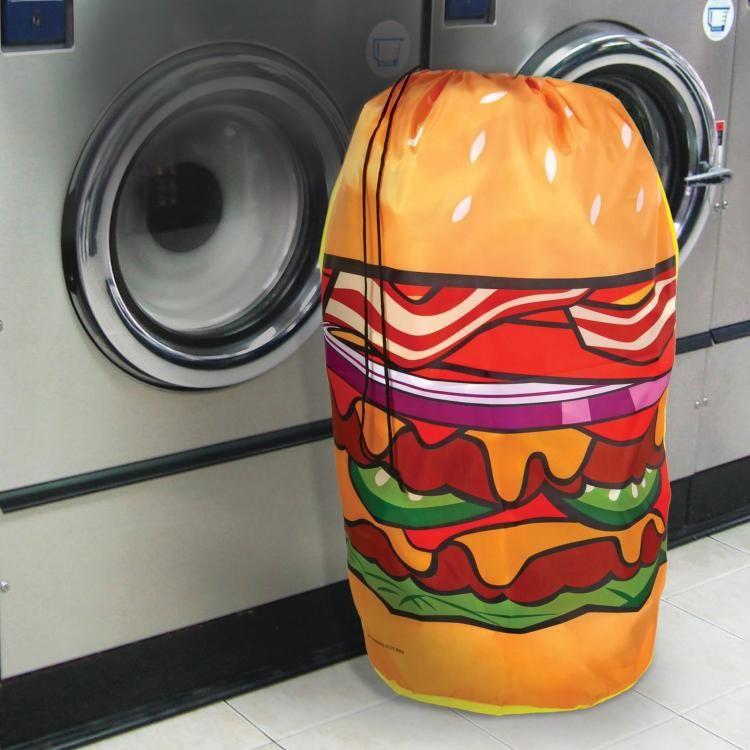 Cheeseburger Hamper Laundry Bag