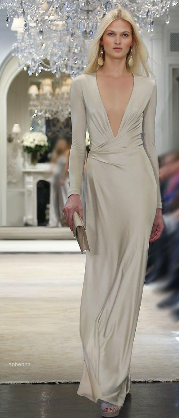 Rosamaria G Frangini |Haute Couture | Ralph Lauren Beige Dress ...
