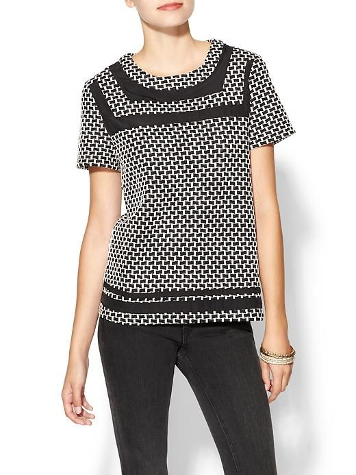 Piperlime | Checkered Knit Tee
