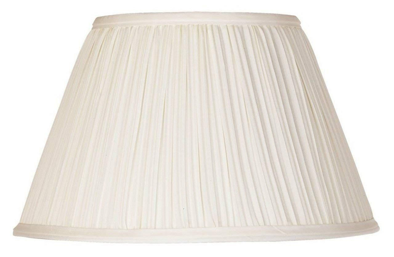 10 Inch Pleated Empire Clip On Replacement Lampshade Cream