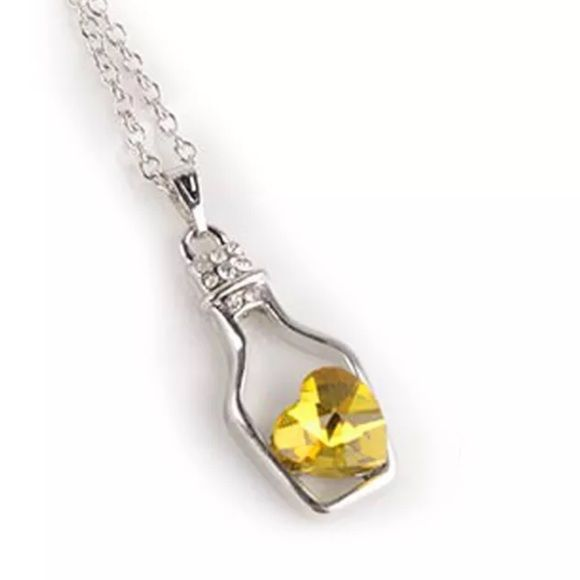 Saving all my love necklace New. The color is silver with a yellow heart. Adjustable. Lobster closure. No trades. Jewelry Necklaces