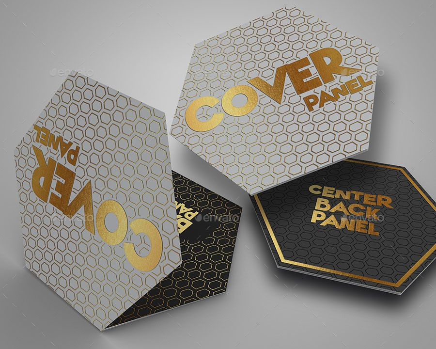 hexagon fold out style brochure brochure pinterest brochure