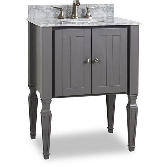 Hardware Resources Jensen Single 28 Inch Grey Traditional Bathroom Vanity Traditional Bathroom Vanity Single Sink Vanity Vanity Sink