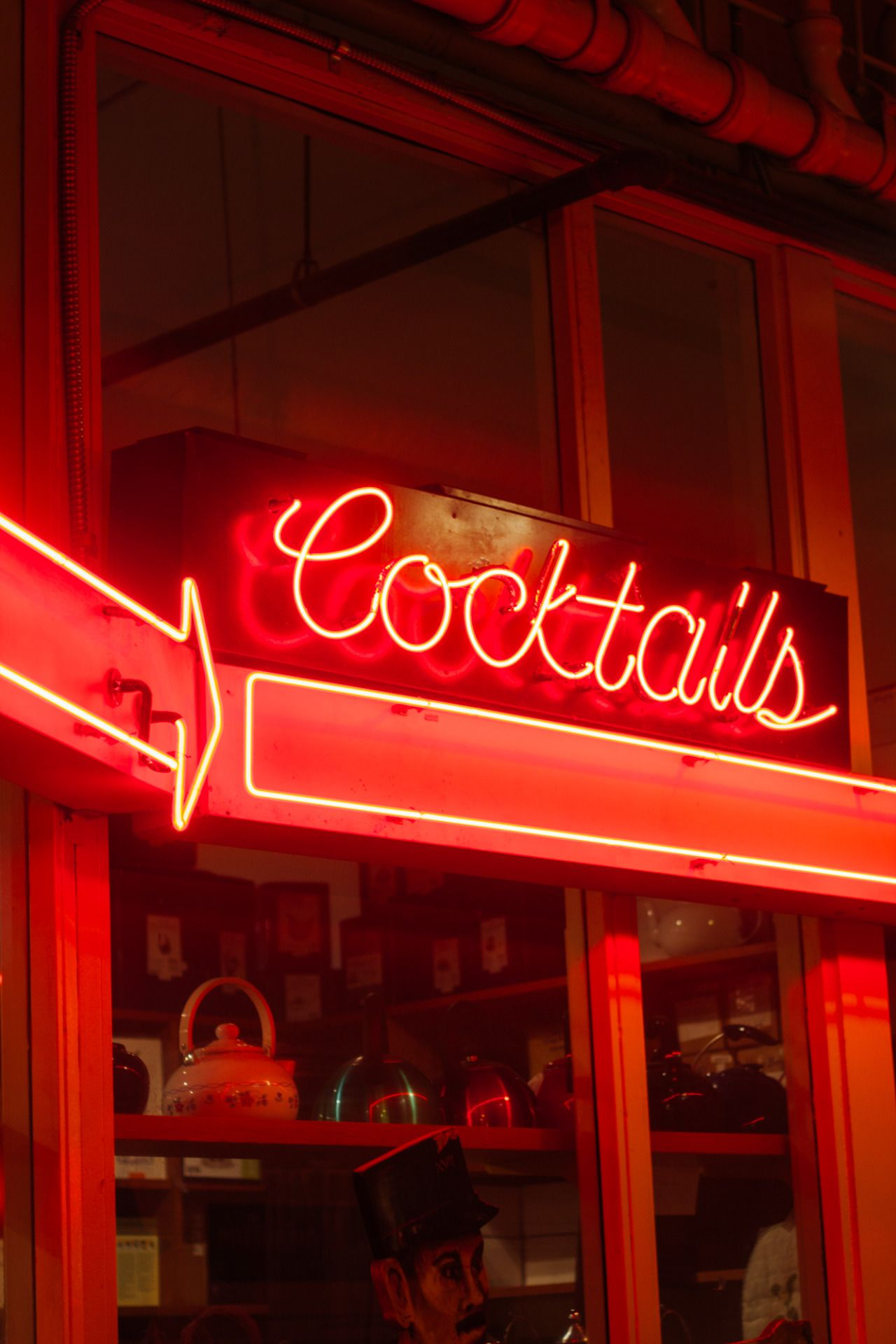 "Neon sign reading ""Cocktails"" in Seattle, WA"