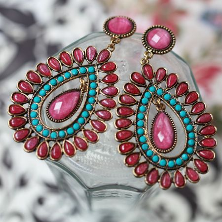 Bay of Bengal Teardrop Earrings $17 shopruche.com
