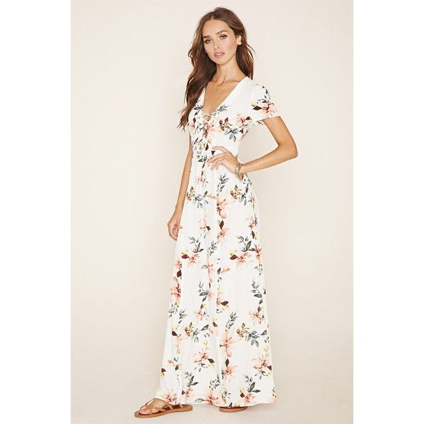 Forever 21 womens lace up floral maxi dress 28 liked on forever 21 womens lace up floral maxi dress 28 liked on polyvore mightylinksfo